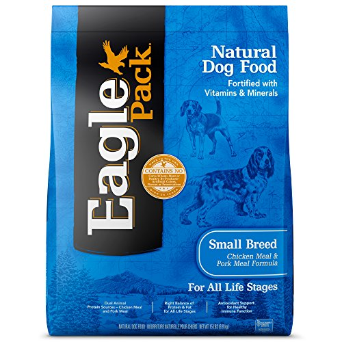 Eagle Pack Natural Dry Small Breed Dog Food, Chicken & Pork, 15-Pound Bag