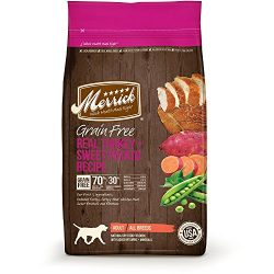 Merrick Grain Free Real Turkey & Sweet Potato Dry Dog Food, 12 lbs.
