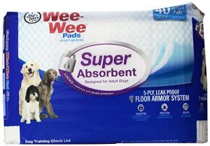 Four Paws Wee-Wee Super Absorbent Dog & Puppy Pads, 40 Ct