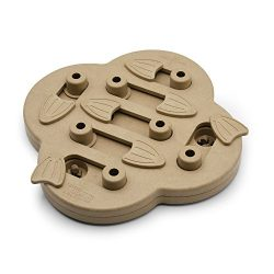 Nina Ottosson Hide N' Slide Treat Dispensing Dog Toy Brain and Exercise Game for Dogs by, Wood Composite