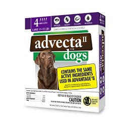 Advecta II Flea Treatment – Flea and Lice Prevention for Dogs, 4 Month Supply