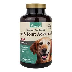 Senior Wellness Hip & Joint Chewable Tablet Supplement for Dogs with Omegas for Advanced Joint Support by NaturVet