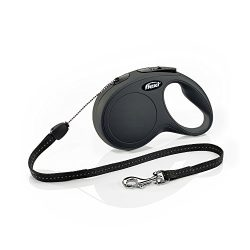 Flexi CL10C8.250.S New Classic Cord Retractable Leash, Black, Small/26′