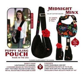 Pet Flys Puppy Pouch Sling Midnight Minx