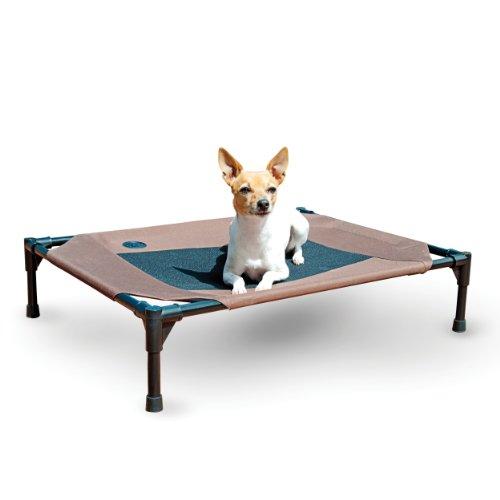 K&H Pet Products Original Pet Cot Elevated Pet Bed Medium Chocolate/Mesh 25″ x 32″ x 7″