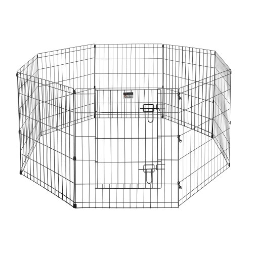 Pet Trex Exercise Playpen for Dogs with High Panel and Gate, 24 x 30″