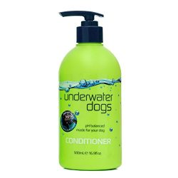 Underwater Dogs Conditioner for Itchy Skin – 16.9 Fluid Ounces of Soap-Free, pH Balanced, Moisturizing Dog Conditioner Detangler – Coconut Fragrance