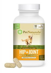 Pet Naturals of Vermont – Hip + Joint Extra Strength, Joint Supplement for Dogs, 90 Chewable Tablets