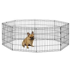 New World Pet Products B550-24 Foldable Exercise Pet Playpen, Black, Small/24″ x 24″