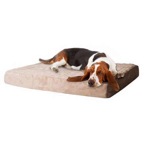 PETMAKER Memory Foam Dog Bed with Removable Cover, Medium