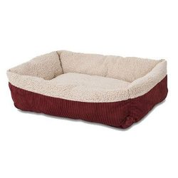 Aapen Pet Self Warming 30″ X 24″ Rectangular Lounger, Barn Red/Cream