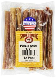 SMOKEHOUSE TREATS Smokehouse Pizzle Stixs Dog Treats, 12-Pack