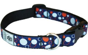 Canine Friendly 3/4-Inch Reflective Dog Collar, X-Small, Soda Pop Blue