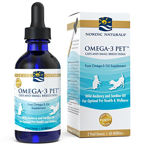 Nordic Naturals Omega 3 Pet – Fish Oil Liquid For Small Dogs and Cats, Omega-3s,EPA And DHA Supports Skin, Coat, Joint And Overall Health In Triglyceride Form For Optimal Absorption, 2 Ounces