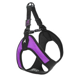 Gooby Escape Proof [Escape Free] Easy Fit Dog Harness for Dogs that likes to escape their harnesses, Purple, Large