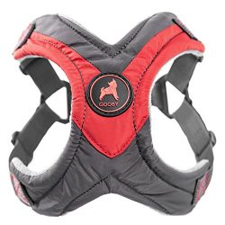 Gooby Trekking Memory Foam Harness & Comfort for Dogs, Large, Red