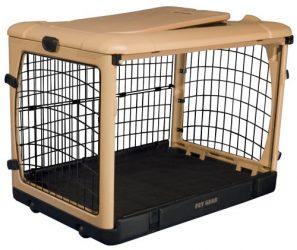 "Pet Gear The Other Door"" 4 Door Steel Crate with Comfort Pad + Travel Bag for Cats/Dogs, Sets up in Seconds No Tools Required, Built-In Handle/Wheels"