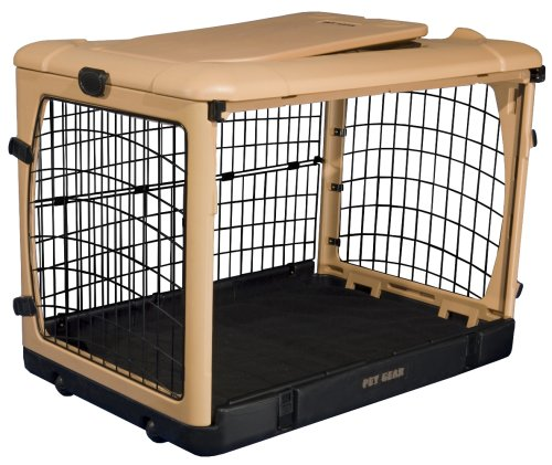 "Pet Gear The Other Door"" 4 Door Steel Crate with Comfort Pad + Travel Bag for Cats/Dogs, Sets up in Seconds No Tools Required, Built-In Handle/Wheels"
