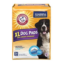 Arm & Hammer 54 Count Puppy Training Pads with Baking Soda, X-Large/30″ x 22.5″