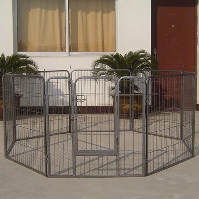 Iconic Pet Heavy Duty Metal Tube Playpen for Dog Exercise and Training, 48″
