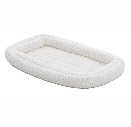 Double Bolster Pet Bed | 30-Inch Dog Bed ideal for Medium Dog Breeds & fits 30-Inch Long Dog Crates