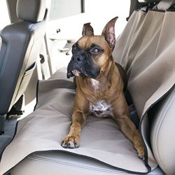 Tan Universal Waterproof Back Seat Cover By Majestic Pet Products