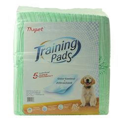 Thxpet Puppy Pads Super Absorbent Leak-proof 80 Count Dog Pee Training Pads 22×23 inch