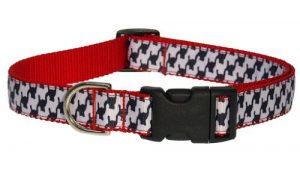 Sassy Dog Wear 10-14-Inch Black/White Houndstooth Dog Collar, Small