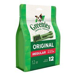 Greenies Original Regular Size Dog Dental Chews – 12 Ounces 12 Treats