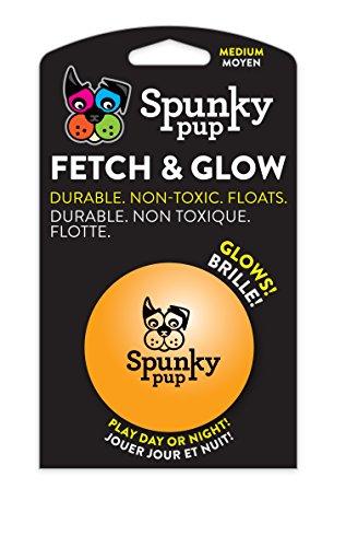 Spunky Pup American Dog Toys Fetch & Glow Jr. Ball, Medium