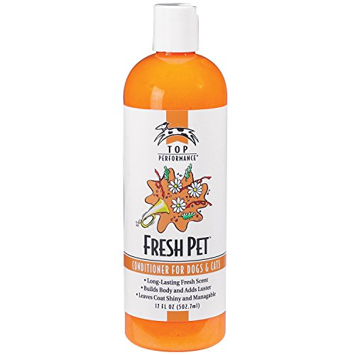 Top Performance Fresh Pet Conditioner to Reduce Mats and Tangles, 17 Oz. Size – Conditioning Formula Gives Coats Sheen