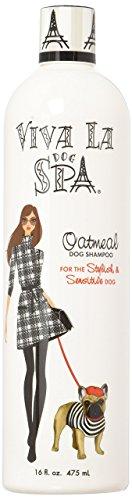 Viva La Dog Spa Oatmeal Shampoo for Sensitive Skin, 16-Ounce