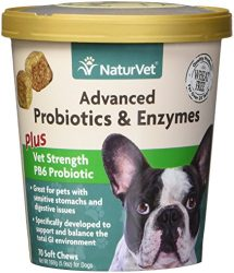 Garmon Corp Veterinarian Strength Advanced Probiotics, Healthy Enzymes & PB6 Probiotic Supplement For Your Dogs Stomach, Intestine, Digestion and GI Tract health, Made by NaturVet