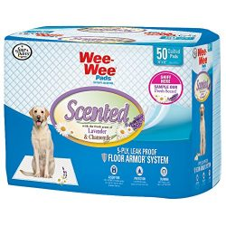 Four Paws Wee-Wee Lavender Dog & Puppy Training Pads, 50 Ct