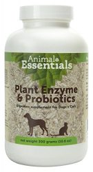 Animal Essentials Plant Enzyme & Probiotics Supplement for Dogs & Cats, 10.6 oz