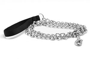 Pet Champion 5ft Chain Leash with Nylon Handle Easy Lead No Pull, Assorted Colors