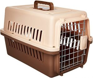Paw Essentials 19″ inch Dog and Cat Pet Carrier and Travel Crate (Coffee)