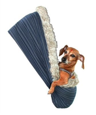 Pet Flys 500-070 AWSMMD Koi Fish Rhinestone Puppy Holdem Sling Admiral Navy with Werewolf Trim, Small/Medium