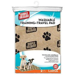 Simple Solution Large Washable Training and Travel Dog and Puppy Pad, Large – 2-Count