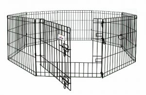 Petmate 36-Inch by 24-Inch 8 Panels Exercise Pen with Step Through Door