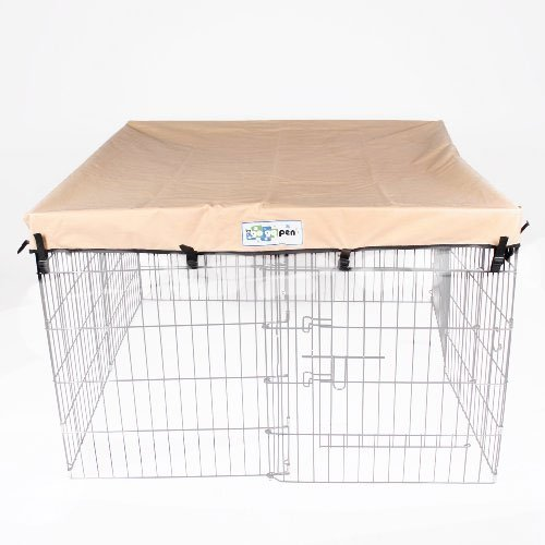 4′ x 4′ GoGo Pet Products Exercise Pen UV Top / Cover Tan