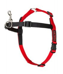 The Company of Animals – HALTI Training Harness – Durable and Adjustable – Comfortable Padded fit – Large – Black & Red