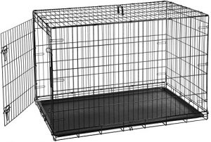 AmazonBasics Single-Door Folding Metal Dog Crate – 48 Inches