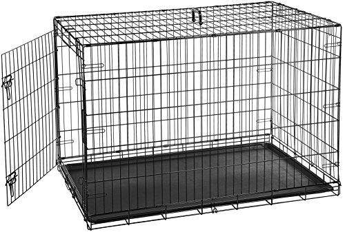 AmazonBasics Single-Door Folding Metal Dog Crate – 48 Inches