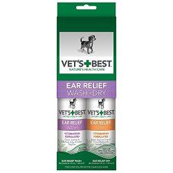 Vet's Best Dog Ear Cleaner Kit, Ear Relief Wash & Dry