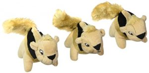 Outward Hound Squeakin' Animals Squeaky Plush Dog Toys, Replacement Hide a Squirrel Squeak Toys by, 3 pack