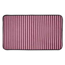 DII Bone Dry Non Slip Small Stripe Pet Cage Mat, 14×24″, Absorbent Non Scratch Under Cage Mat for Dogs and Cat, Perfect for Kennels or Crates-Cranberry Red