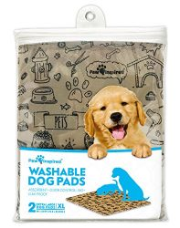 Paw Inspired 2ct XL Extra Large Washable Pee Pads for Dogs, Puppy Training Pads, Waterproof Whelping Pads, Reusable Dog Pads
