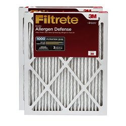 Filtrete MPR 1000 20 x 24 x 1 Micro Allergen Defense HVAC Air Filter, 2-Pack