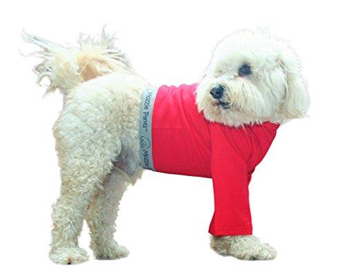 Mozzie Pants Dog T-Shirt, Dog Pants, E-Collar Alternative, Dog Pajamas, Medium Dog, Red